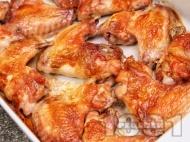 Мариновани пилешки крилца на фурна с мед и лимон